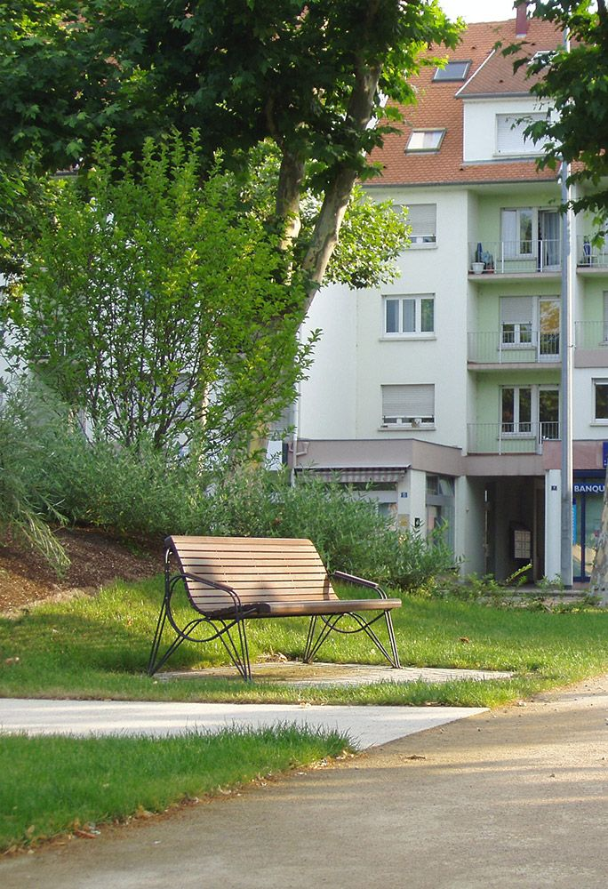 euroform w - urban furniture - park benches wood - Ambiente - seating