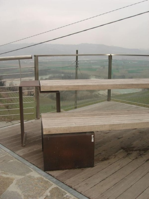 euroform w - urban furniture - park bench - seating wood - Linea 1310