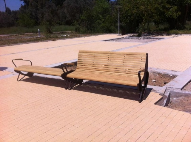 euroform w - urban furniture - park bench wood - Allone Allbench - seating