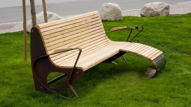 euroform w - urban furniture - park bench wood - Allrelax Allbench - seating