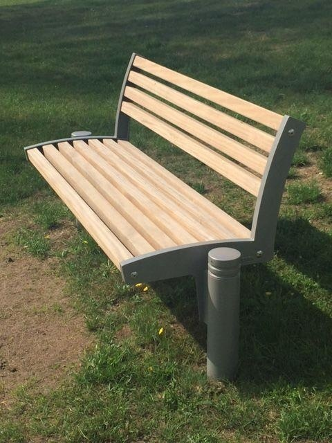 euroform w - urban furniture - park bench wood - seating - Fritz