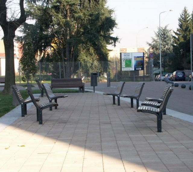 euroform w - urban furniture - park bench wood - seating - Contour 322, 323, 325