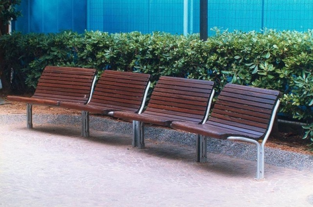 euroform w - urban furniture - park bench wood- seating - Contour 329, 330