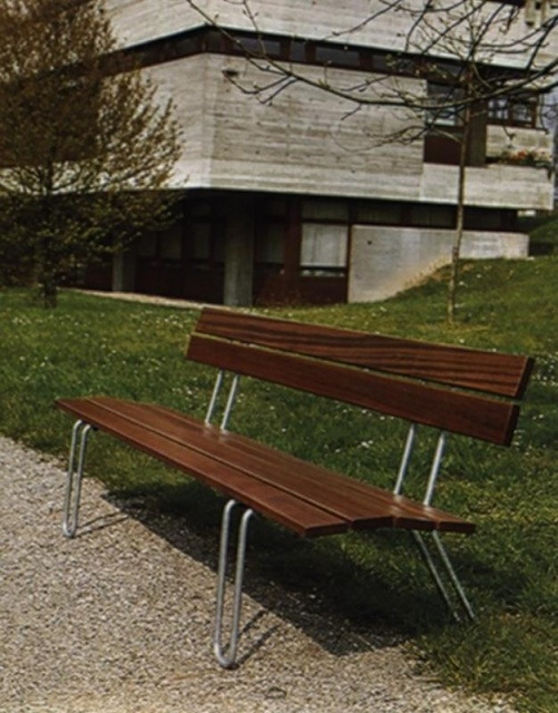 euroform w - urban furniture - park bench wood - seating - Classic 33