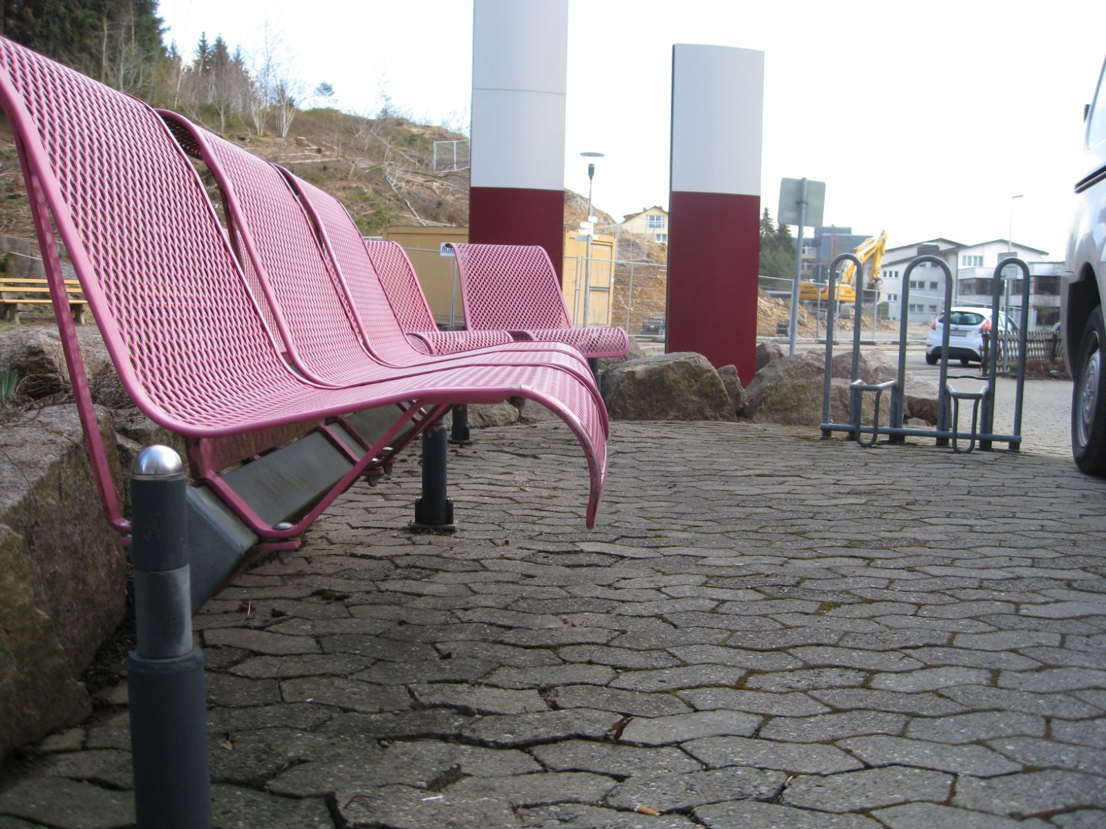 euroform w - urban furniture - park bench metal - seating - Domino - modular bench