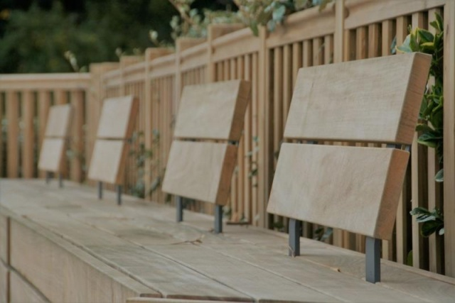 euroform w - urban furniture - park bench wood - seating - modular bench - Isola IIII