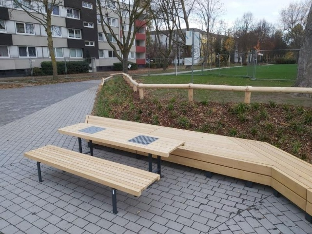 euroform w - urban furniture - park bench wood - seating - pic nic set - tables - Lineatavolo