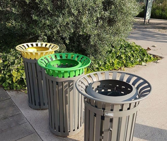 euroform w - urban furniture - litter bin - ashtray - Tulip - waste separation