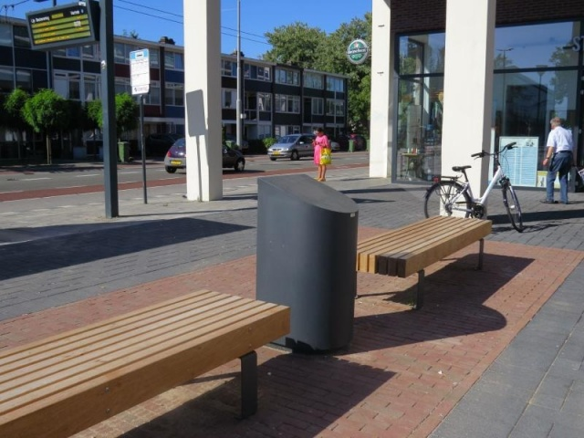euroform w - urban furniture - litter bin - ashtray - Eddy