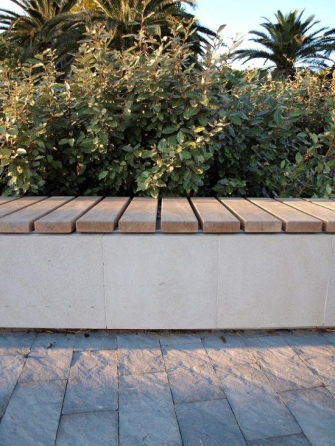 euroform w - urban furniture - benches wood concrete - seatings - customized