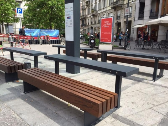 euroform w - urban furniture - benches - seatings - customized - shelter