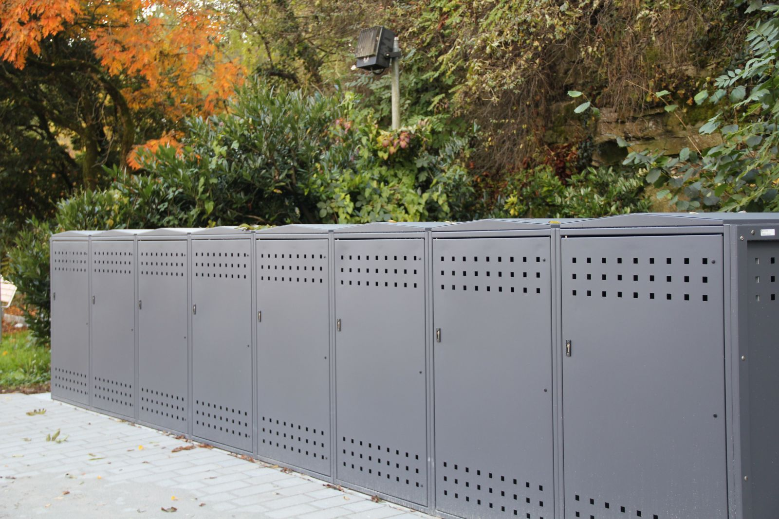euroform w - urban furniture - bike box - bike storage
