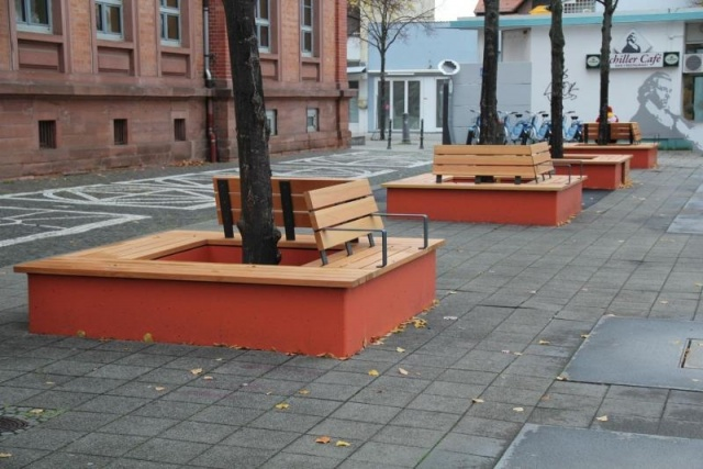 euroform w - urban furniture - benches wood - seatings - customized