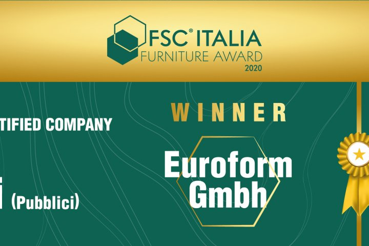 We are winners of the FSC Italia Furniture Award 2020!